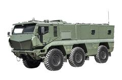 increased vulnerability of armored personnel carriers - stock photo