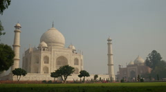 Overview of the Taj Mahal in Agra - stock footage