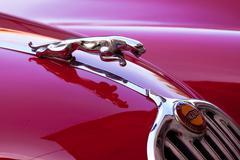 Red luxury retro sports car - Jaguar Kuvituskuvat