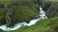 Flooded Gully in ICELAND Stock Footage