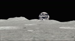 Moon tracking shot 02 Stock Footage