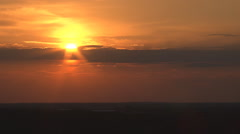 Sunset over the forest in may Stock Footage