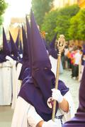 Semana Santa (Holy Week) in Andalusia, Spain. - stock photo