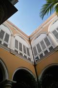 Cuba Havana City Havana Club House, Inner Courtyard, Patio Stock Photos