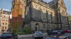 Stock Video Footage of Timelapse Of The Martin Luther Church In Dresden Germany