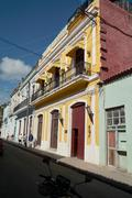 Stock Photo of Cuba Town Historical Houses - Street