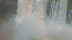 Brazilian waterfall. Foz do Iguazu, Brazil. World Famous Iguazu Falls. Paradise Stock Footage