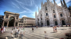 Stock Video Footage of Milan Cathedral