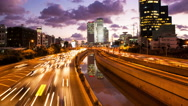 Stock Video Footage of 4K Traffic Time Lapse - Ayalon Freeway