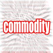 Commodity word cloud Stock Illustration