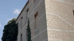 Establishing shot abandoned house ruin Stock Footage