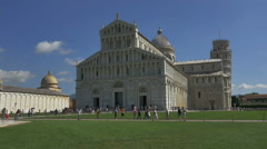 Time lapse tourists Piazza del Cumo Cathedral Pisa Italy - HD-P 0536 Stock Footage