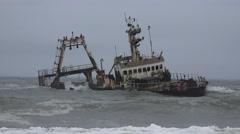 Skeleton Coast Ship Wreck (Namibia) Stock Footage