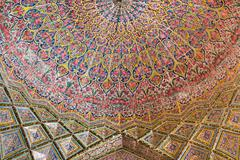 Nasir al-Mulk Mosque in Shiraz, Iran - stock photo