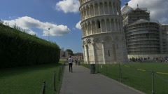 Time lapse tourists taking photos Leaning Tower Pisa Italy - HD-P 0597 - stock footage