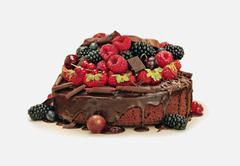 Pie with fruit Stock Photos