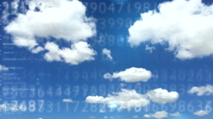 Digital data cloud depo 1 Stock Footage