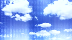 Digital data cloud depo 2 Stock Footage
