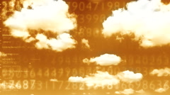 Digital data cloud depo 5 Stock Footage