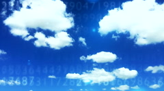 Digital data cloud depo 9 Stock Footage