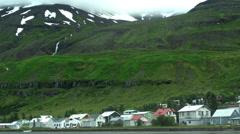 Seyðisfjörður in ICELAND - CIRCA AUGUST, 2014 Stock Footage