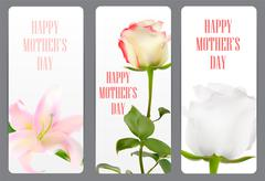 Happy Mother`s Day Poster Card Vector Illustration - stock illustration