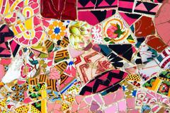 Red Gaudi's Mosaic Stock Photos