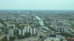 Berlin cityscape, city center (3) - stock footage