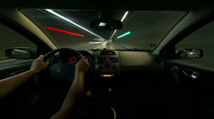 Fast driving time lapse Stock Footage