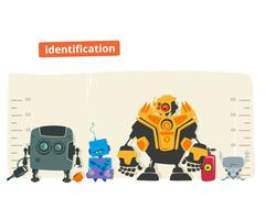 Robot Identification Stock Illustration