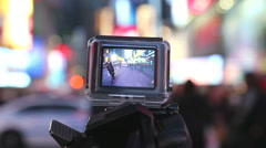 Using gppro to shoot urban scene - stock footage