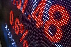 Display stock market data Stock Photos