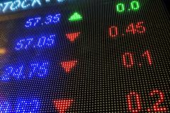 Stock market data Stock Photos