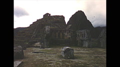 Vintage 16mm film, 1960, Machu Picchu, no tourists Stock Footage