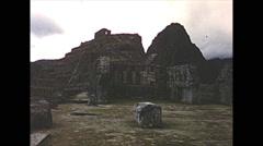 Vintage 16mm film, Machu Picchu, no tourists, 1960 Stock Footage