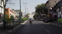 Driving towards traffic court in Tel-Aviv Stock Footage