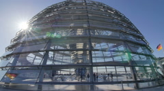 Reichstag  bundestag dome Stock Footage