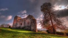 Prunetto castel HDR. Italy countryside - stock footage