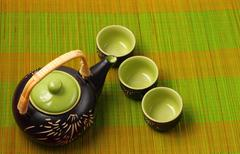 Asian tea set - stock photo