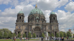Berlin Cathedral Church flat colors 1 establishing shot Stock Footage