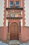 Germany Weilburg Castle Historical Gate Door - stock photo