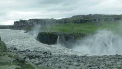 Epic Dettifoss Waterfall ICELAND - CIRCA AUGUST, 2014 Stock Footage