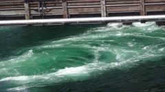 Boiling prop wash in ocean Stock Footage
