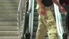 Escalators in Modern Urban Interior as Success Concept. - stock footage