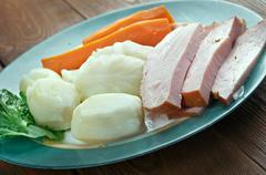 New England boiled dinner - stock photo