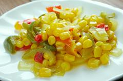 Corn relish - stock photo