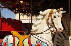A historic carousel horse Stock Photos