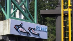 Orcas Island welcoming sign Stock Footage
