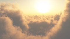 fly through clouds - stock footage