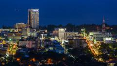Timelapse of hua hin city, Thailand - stock footage